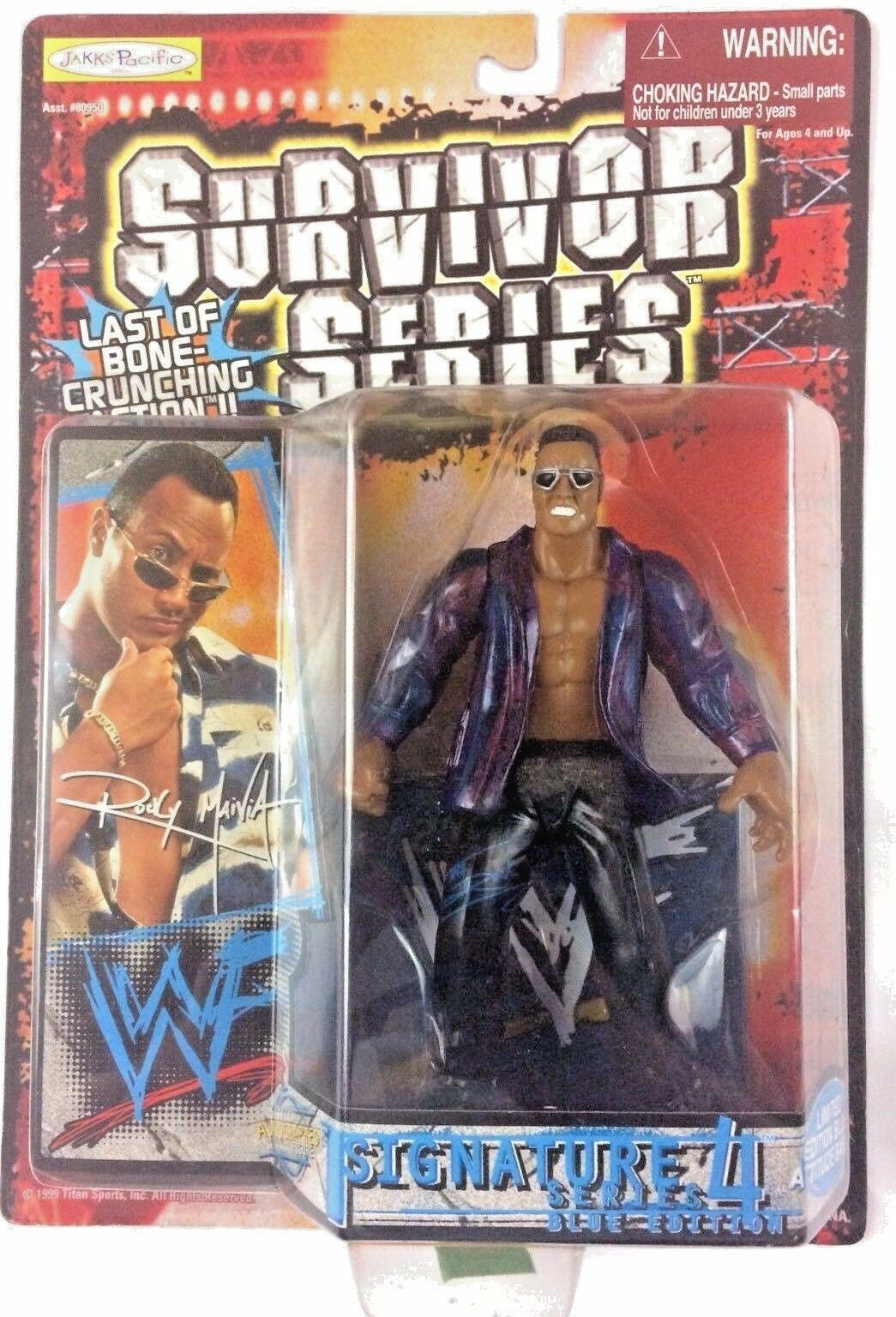 The Rock WWF WWE Jakks Action Figure Signature Series 4 1999 Dwayne Johnson