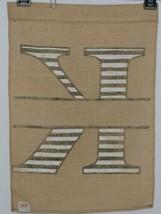 Kate Winston Brand Brown Burlap Monogram Black and White K Garden Flag image 2