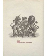 Welcome to The Hearth Room Menu Unicorn Lion and Shield on the cover - $27.79