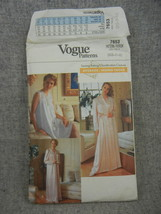 Misses Size 6-14 Nightgown and Robe in 2 lengths With Yoke Vogue 7653  U... - $6.50
