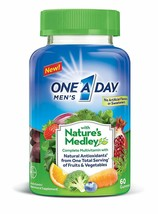 One A Day Men's Nature's Medley Complete Multivitamin Supplement Gummies 60 Ct - $20.80