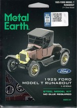 Fascinations Metal Earth 1925 Ford Model T Runabout Laser Cut 3D MMS207 - $12.89