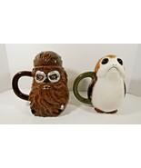 Disney's Star Wars The Last Jedi Chewbacca and Porg 20 Ounces Ceramic Mugs  - $14.01
