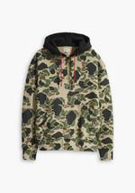 Levi's Justin Tinberlake Fresh Leaves 1/4 Zip Hoodie,Duck Hunt Camo ,Sz S - $65.33