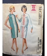 Vintage 60's McCall's Sheath Dress Sewing Pattern Misses Juniors Size 12... - $12.97