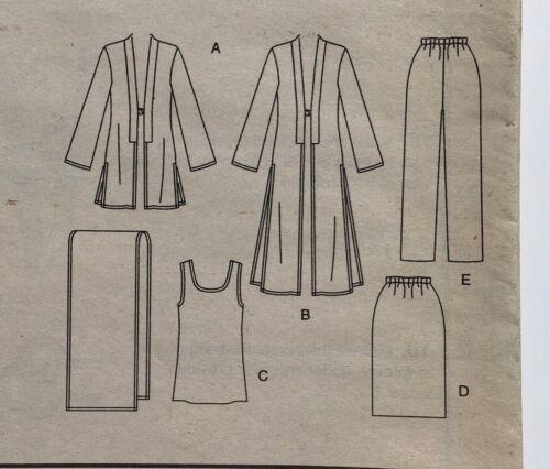 Vogue 2843 Wardrobe Jacket Duster Tunic Skirt Pants Trousers Shawl 8-12 Uncut FF