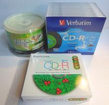 Lot of Packs CDR Audio Discs Verbatim Digital Vinyl CD-R 700 MB Memorex Ridata - $59.99