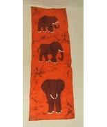 "Elephant Art on Fabric 36""x12"" - $19.33"