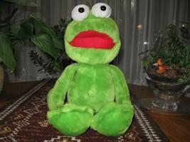 Dutch Large Green FROG Stuffed Animal Plush - $67.54
