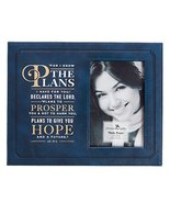 Christian Art Gifts LuxLeather Photoframe: for I Know The Plans - Jeremi... - $18.93
