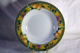 "Royal Norfolk Fruit On Yellow Band Rimmed Soup Bowl 8"" - $6.29"