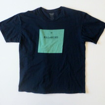 Billabong Mens T-Shirt XL Little Wave Graphic Dark Blue - $13.50