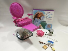 Used American Girl Doll Hair Styling Salon Chair Spa Retired  Smores Lot Camping - $49.49