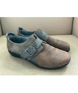 Naot Tane Brown Gray Slip On Shoes with Buckle EUR 39 US 8 - $30.53