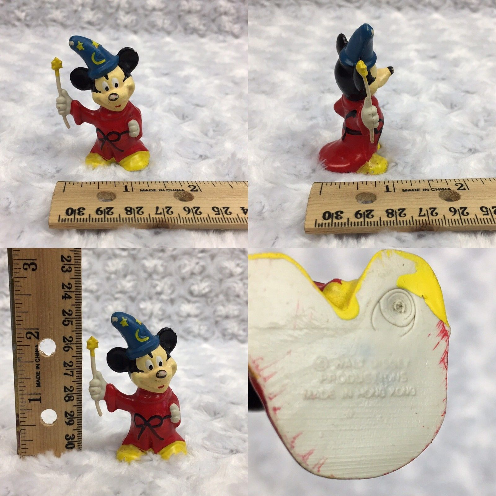 Mickey Mouse Fantasia Walt Disney Vintage 1980s Applause Small Figurine Toy