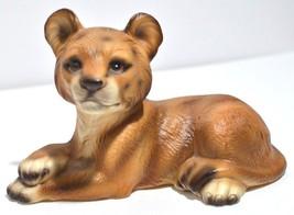Lion Cub Figurine Porcelain Zoo Wild Cat Safari UCAGCO UCGC Japan Vintag... - $24.18