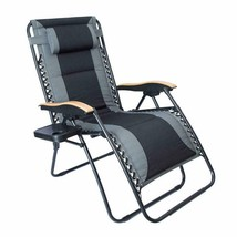 Luckyberry Oversize Xl Padded Zero Gravity Lounge Chair Grey Wider Armre... - $193.99+
