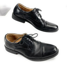 Clarks Waterproof Cap Toe Derby Oxford Lace Up Shoes Black Leather Men's 9M - $35.63