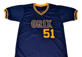 Ichiro Suzuki #51 Orix Blue Wave New Men Baseball Jersey Navy Blue Any Size image 3