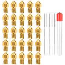 0.4MM MK8 Ender 3 Nozzles 25 pcs 3D Printer Brass Nozzles Extruder For M... - $16.53