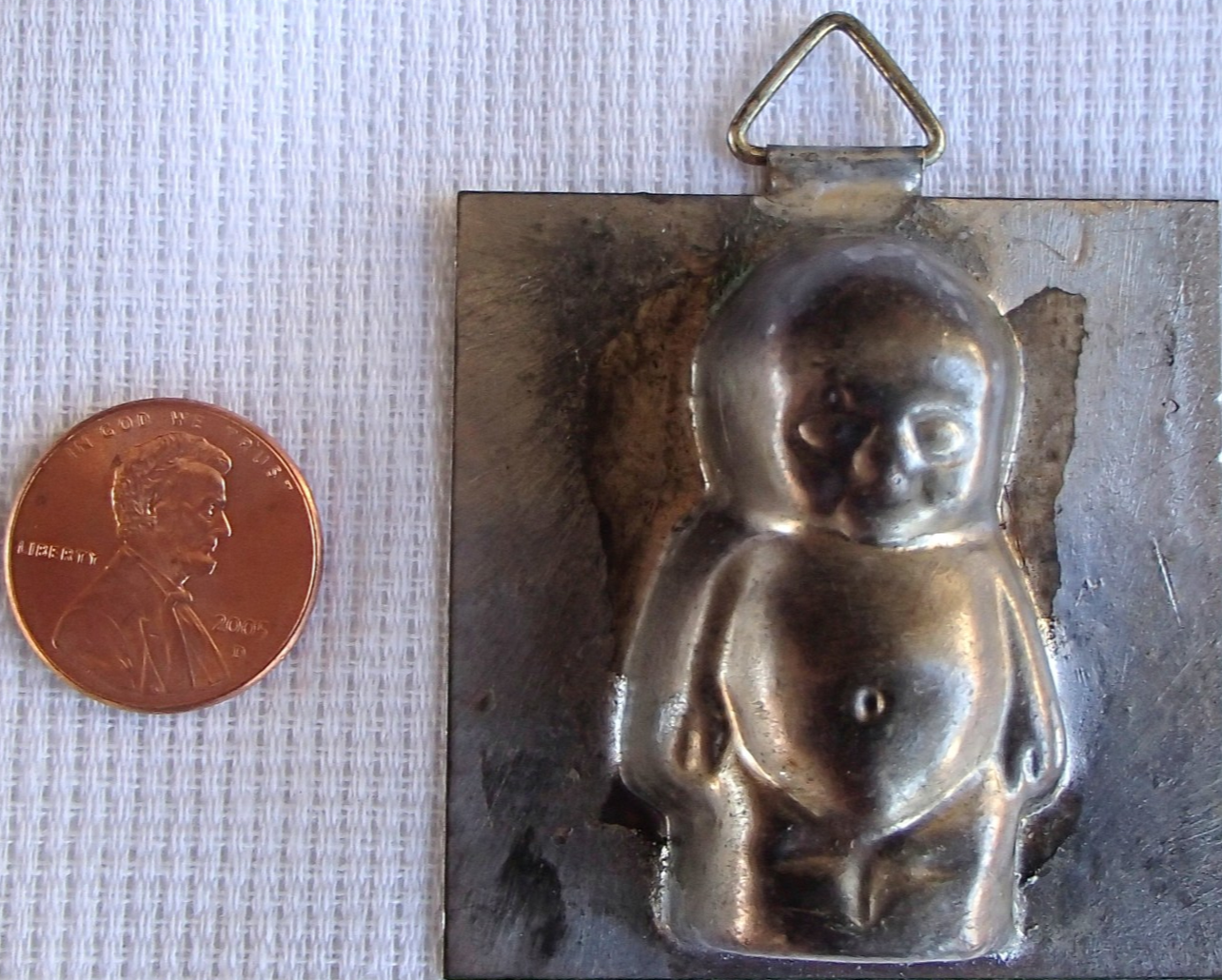 Primary image for Vintage 1960's Miniature Kewpie Cupie Doll Metal Mold Single Chocolate Candy