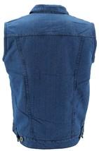 Gary Pallan USA Men's Sherpa Fleece Lined Cotton Denim Jean Trucker Vest image 2