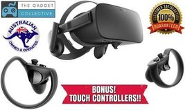 Oculus Rift Virtual Reality VR Gaming Headset + TOUCH CONTROLLERS - $605.57