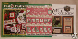 LOT 3 VINTAGE QUICK & EASY HOLIDAY STITCH CRAFT... - $7.69