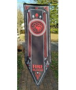 Game Of Thrones House Star Tournament Banner 19 X 60 Fire And Blood Drag... - $11.88