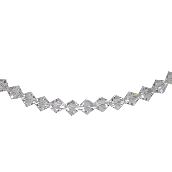 Clear Crystal Bicone Silver Bracelet