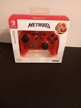 Nintendo Switch Red / Gold Chrome Metroid Wired Controller NEW Special L... - $28.22