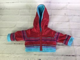 American Girl Red Blue Hoodie Zip Up Jacket Fashion Clothing for Doll - $14.84