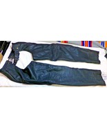 Bikers Club Genuine Leather Black Motorcycle Riding CHAPS XS 30 Inseam 3... - $45.00