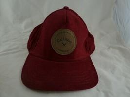 Callaway Carlsbad Red Corduroy Snap Adjustable performance Golf Cap - $12.86