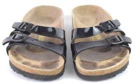 Birkenstock Germany Black Faux Leather Belted Slide Sandals Womens 36 US 5 - 5.5 - $28.70
