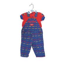 Vintage OshKosh B'Kosh Baby Overalls Train Outfit 80s Infant 12 month - $32.62