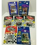 Lot of 7 NEW NASCAR Die Cast Cars w/ Card & Stand Vintage Earnhardt Pett... - $31.88
