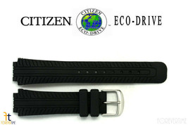 Citizen Eco-Drive 59-S51238  6mm Original Black Rubber Watch Band AT0270... - $62.95