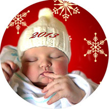 1 CUSTOM TWO SIDED ORNAMENT YOUR PHOTO RELIGION ART TEXT MEMORIAL FUNDRA... - $9.46