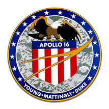 Apollo 16 Mission NASA Patch Saturn V Rocket Space X Round MDF Wood Sign - $29.65