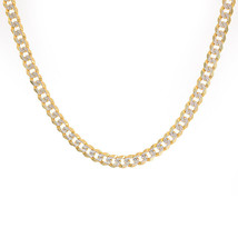14K Yellow Gold Diamond Cut Curb Link 20 Inch Chain 24.2 Grams - $1,557.27