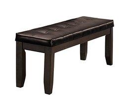 "Homelegance Ameillia Wood Tufted Bench, 60"", Grayish Brown - €298,77 EUR"