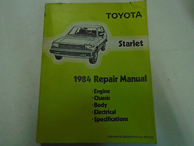 1984 Toyota Starlet Service Shop Repair And 50 Similar Items