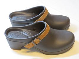 Crocs Sarah Clog Mule Duel Comfort Espresso 20631 standard fit Womens W ... - $59.39