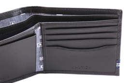 Nautica Men's Genuine Leather Credit Card ID Double Billfold Passcase Wallet image 8