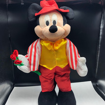 Mickey Mouse Standup Plush Dressup Roses Striped Vest Red Hat 24'' Tall ... - $59.99