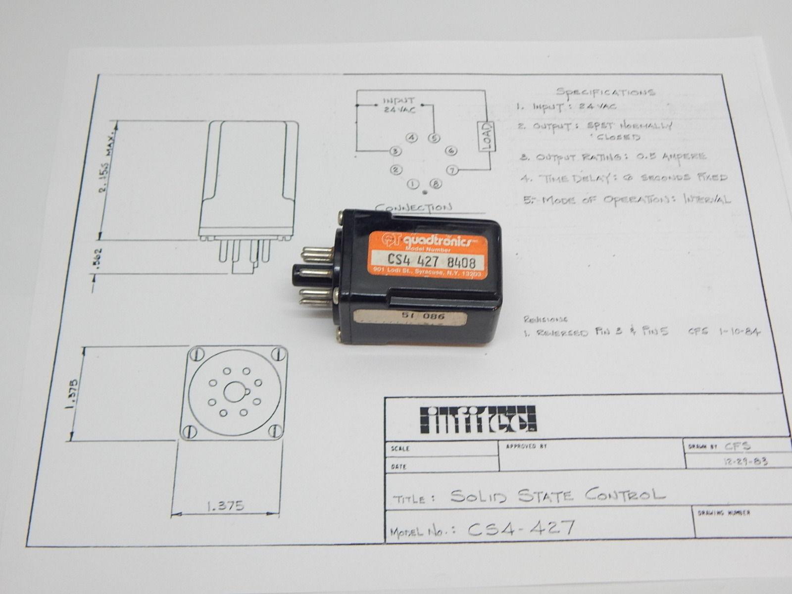 Infitec Time Delay Relay Circuit Digital Wiring Diagram Services 12 Volt Off Cs4 427 And 50 Similar Items Rh Bonanza Com Timer Schematic