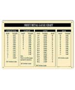Sheet Metal Gauge Chart Garage Shop Reproduction Sign 12x18 - $25.74