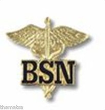 BSN BACHELORS OF SCIENCE NURSE MEDICAL UNIFORM COLLAR FIRE HEALTH BADGE PIN - $22.55
