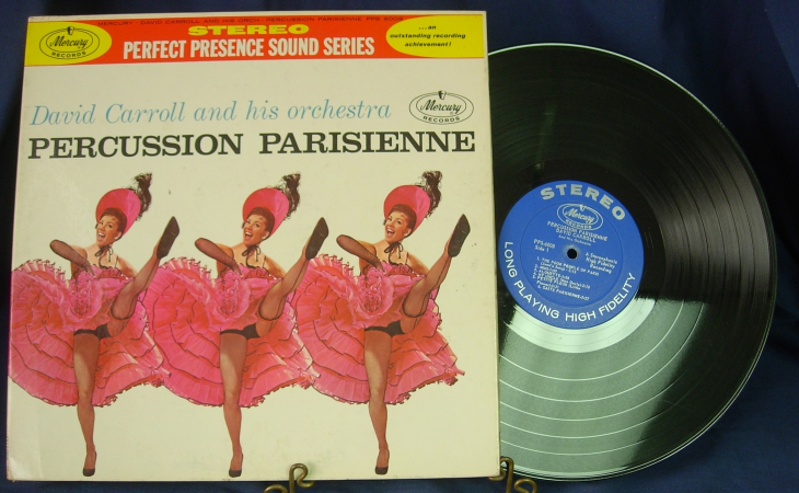 David Carroll & his Orchestra - Percussion Parisienne - Mercury Records PPS 6008